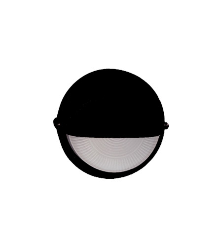 PLC Lighting Marine 1 Light Outdoor Wall Sconce in Black 4221-BK photo