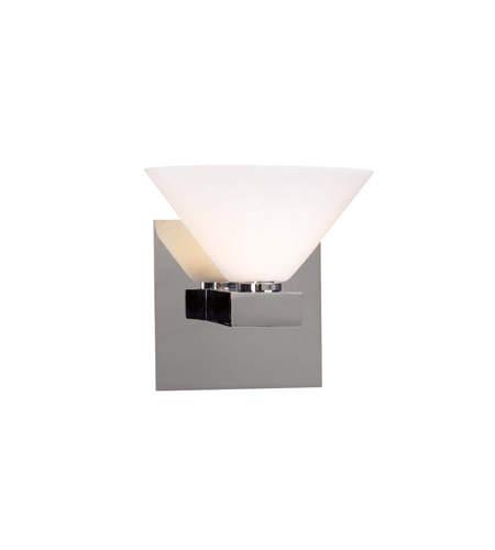 PLC Lighting Matrix 1 Light Wall Sconce in Polished Chrome 541-PC photo