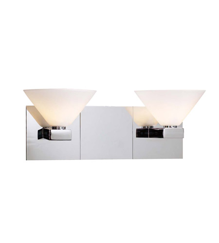 PLC Lighting Matrix Vanity in Polished Chrome with Matte Opal Glass 542-PC photo