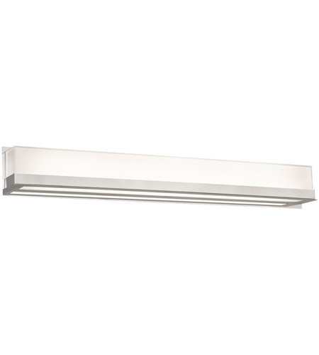 PLC Lighting 55036PC Delphina LED 36 inch Polished Chrome Vanity Light Wall Light, Large photo