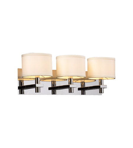 PLC Lighting Concerto 3 Light Vanity Light in Polished Chrome 583-PC photo