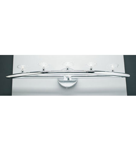 PLC Lighting Camber Vanity in Polished Chrome with Clear Glass 6053-PC photo