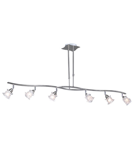 PLC Lighting Avatar 6 Light Pendant in Satin Nickel 6073-SN photo