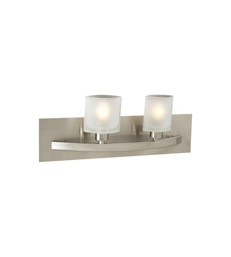 PLC Lighting Wyndham 2 Light Vanity Light in Satin Nickel 642-SN photo
