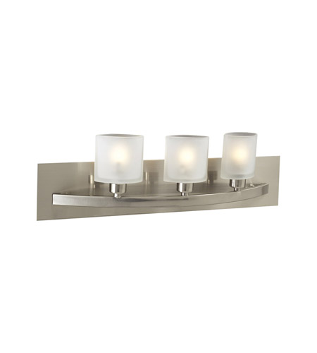 PLC Lighting Wyndham 3 Light Vanity Light in Satin Nickel 643-SN photo