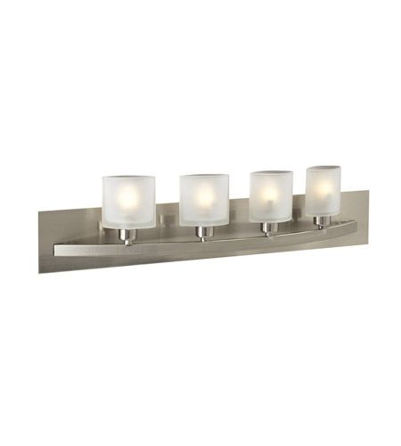 PLC Lighting Wyndham 4 Light Vanity Light in Satin Nickel 644-SN photo