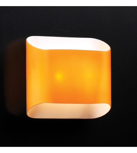 PLC Lighting Jackson 2 Light Wall Sconce in Amber 67015-AMBER photo
