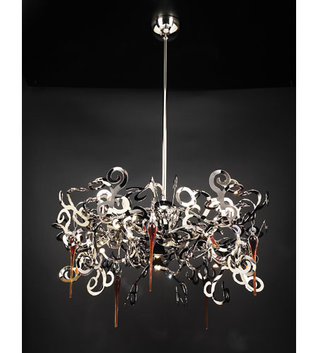 PLC Lighting Exos 10 Light Chandelier in Polished Chrome 70007-PC photo