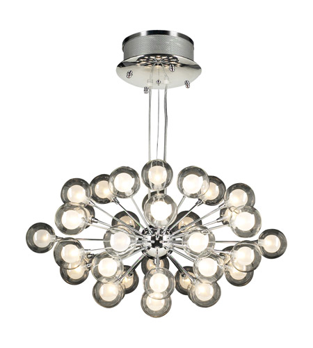 PLC Lighting 72108-PC Coupe 37 Light 28 inch Polished Chrome Chandelier Ceiling Light photo