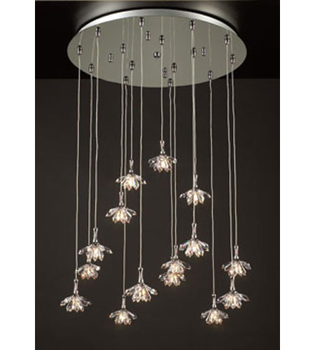 PLC Lighting Confuzion Chandelier in Polished Chrome with Clear Glass 72148-PC photo