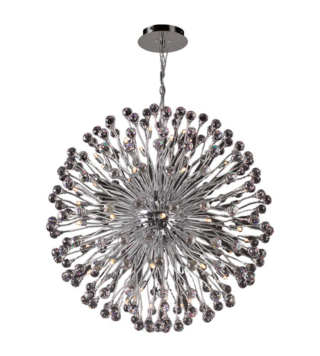 PLC Lighting Aspasia 54 Light Chandelier in Polished Chrome 72178-PC photo