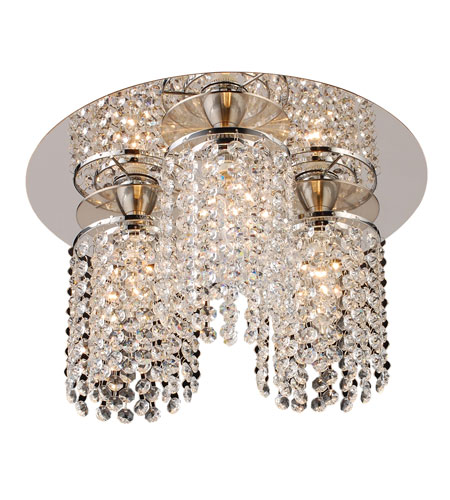 PLC Lighting 72198-PC Rigga 3 Light 14 inch Polished Chrome Semi-Flush Mount Ceiling Light photo
