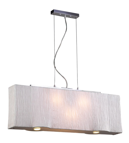 PLC Lighting Leona 5 Light Pendant in Ivory 73008-IVORY photo
