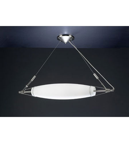 PLC Lighting Crypto Pendant in Satin Nickel with Matte Opal Glass 7303-SN photo