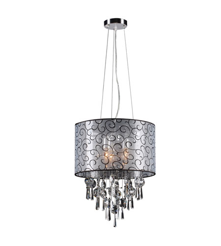 PLC Lighting Alice 3 Light Pendant in Polished Chrome 73085-PC photo