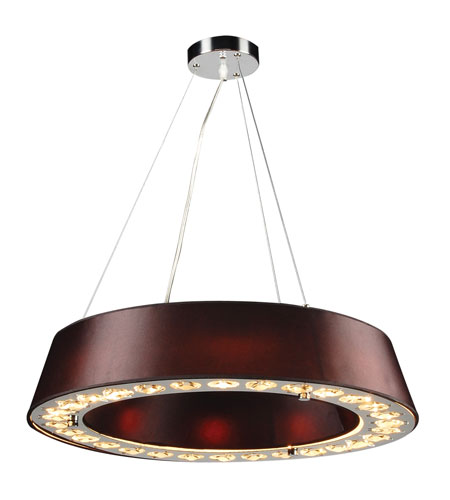 PLC Lighting Veranda 8 Light Pendant in Polished Chrome 73099-BLACK photo