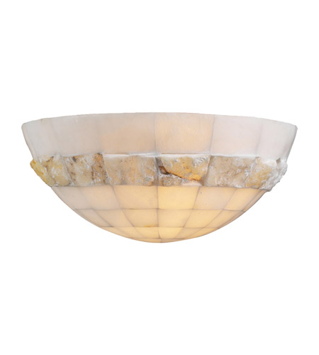 PLC Lighting Sua 1 Light Wall Sconce in Natural Alabaster 7312 photo