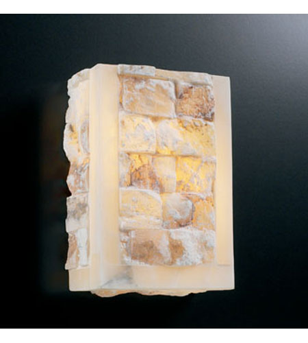 PLC Lighting Sidney Sconce with Natural Alabaster Glass 7318 photo