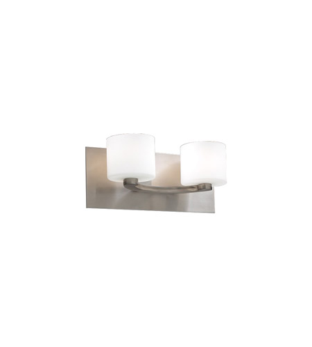 PLC Lighting 7612-SN De Lion 2 Light 13 inch Satin Nickel Vanity Light Wall Light photo