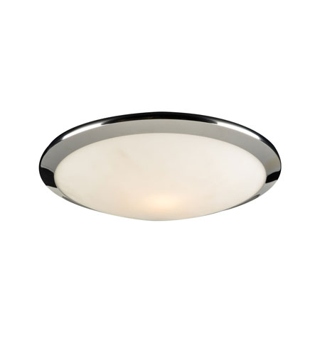 PLC Lighting 7657-PC Preston 1 Light 12 inch Polished Chrome Flush Mount Ceiling Light photo