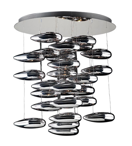 PLC Lighting Aquarium 28 Light Chandelier in Polished Chrome 76765-PC photo