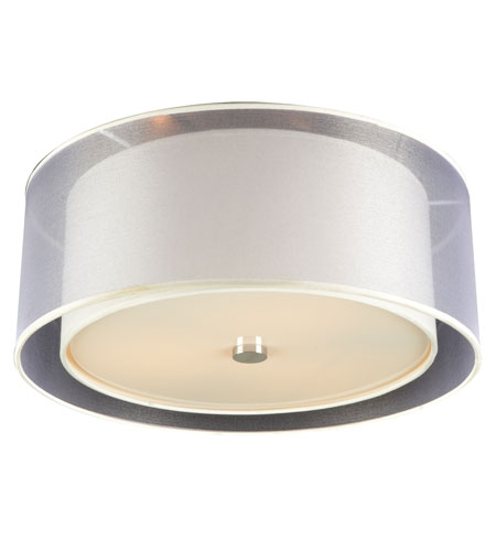 PLC Lighting Merritt 3 Light Flush Mount in Polished Chrome 7676-PC photo