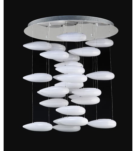 PLC Lighting 76865-PC Aquarium 28 Light 33 inch Polished Chrome Chandelier Ceiling Light photo