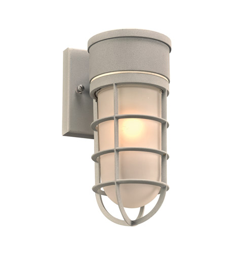 Silver Cage Outdoor Wall Lights