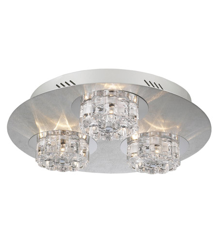 PLC Lighting Ice Age 9 Light Flush Mount in Aluminum 81246-AL photo