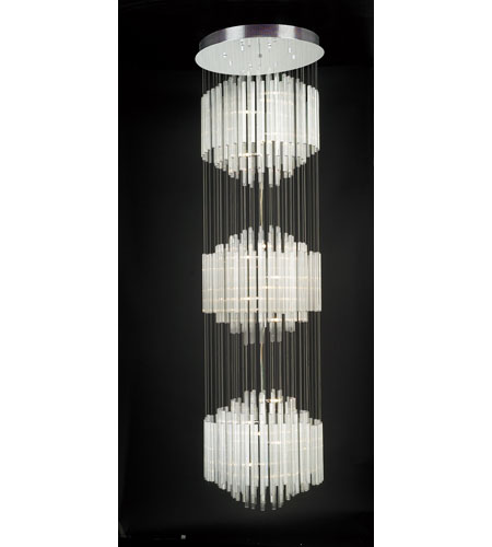 PLC Lighting Entourage Chandelier in Polished Chrome with Clear Glass 81265-PC photo