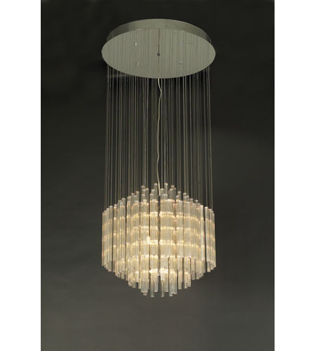 PLC Lighting Entourage Chandelier in Polished Chrome with Clear Glass 81269-PC photo
