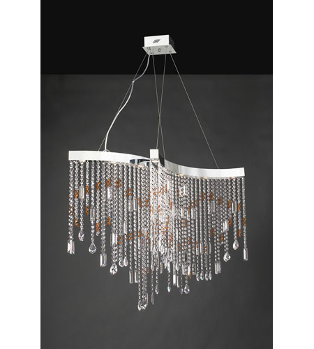 PLC Lighting Progetti 10 Light Chandelier in Polished Chrome 81325-PC photo