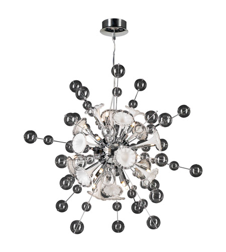 PLC Lighting Circus 16 Light Chandelier in Polished Chrome 81385-PC photo