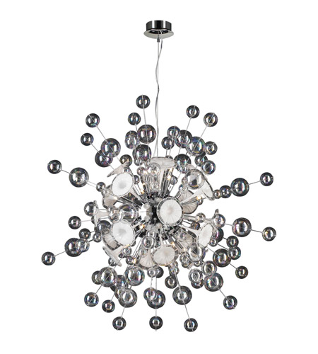 PLC Lighting Circus 30 Light Chandelier in Polished Chrome 81388-PC photo
