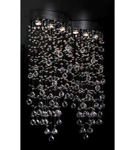 PLC Lighting 81624-PC Drizzle 6 Light 33 inch Polished Chrome Flush Mount Ceiling Light photo