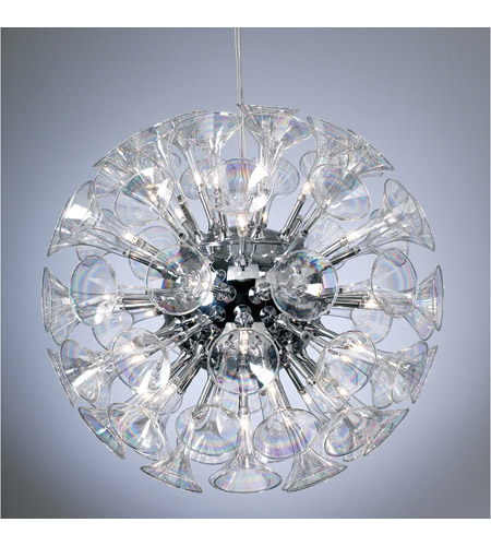 PLC Lighting 81666-PC Martini 36 Light 28 inch Polished Chrome Chandelier Ceiling Light photo