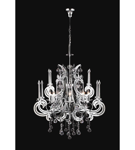 PLC Lighting Paris Chandelier in Polished Chrome with Clear Glass 81876-PC photo