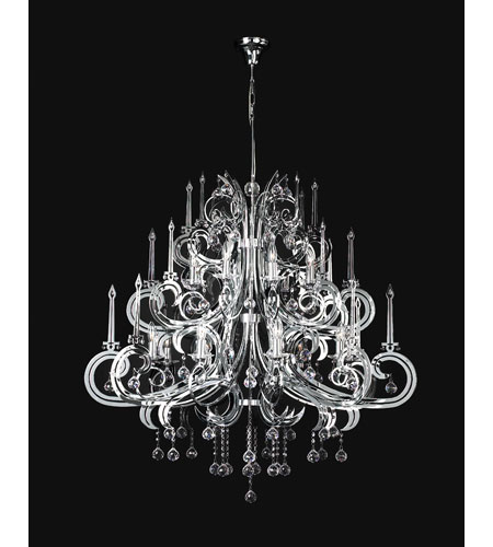 PLC Lighting Paris Chandelier in Polished Chrome with Clear Glass 81879-PC photo