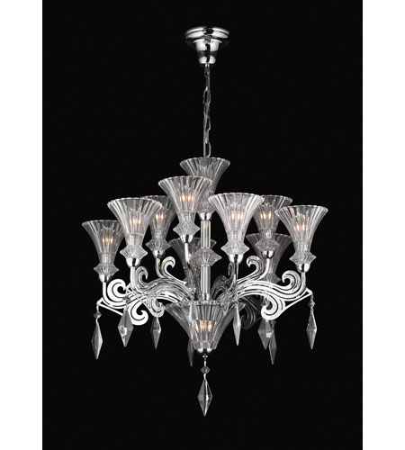 PLC Lighting Zsa Zsa Chandelier in Polished