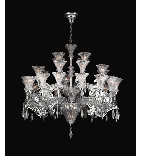 PLC Lighting Zsa Zsa 32 Light Chandelier in Polished Chrome 81989-PC photo