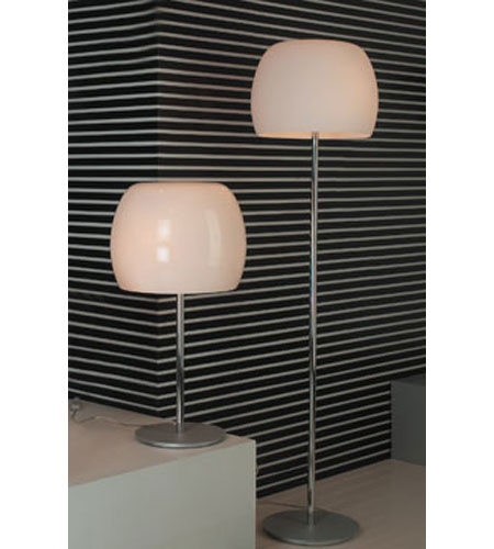 PLC Lighting Marlena Floor Lamp in Polished Chrome with Opal Glass 87745-PC photo