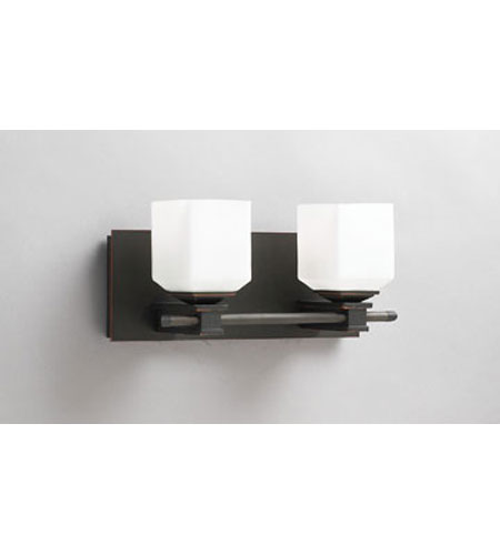 PLC Lighting Modena Vanity in Oil Rubbed Bronze with Matte Opal Glass 942-ORB photo