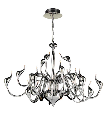 PLC Lighting Swan 24 Light Chandelier in Polished Chrome 96936-PC photo