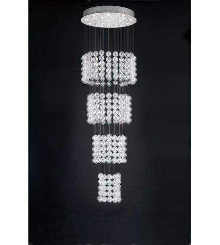 PLC Lighting 96956-PC Oxygen 19 Light 25 inch Polished Chrome Chandelier Ceiling Light photo