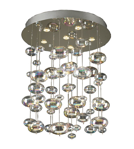 PLC Lighting 96964-PC Bubbles 6 Light 26 inch Polished Chrome Chandelier Ceiling Light photo