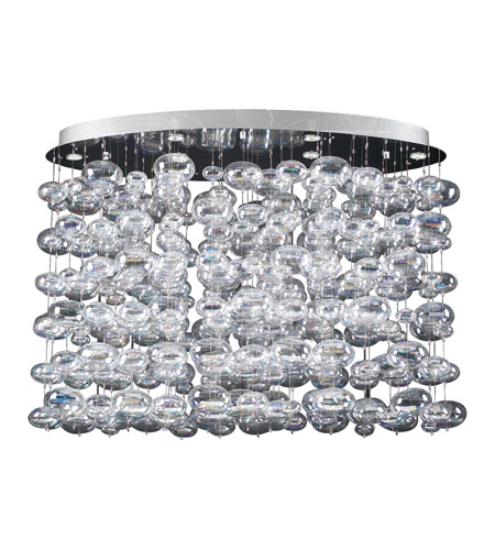 PLC Lighting 96969-PC Bubbles 6 Light 34 inch Polished Chrome Chandelier Ceiling Light photo
