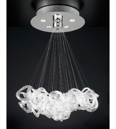 PLC Lighting 96978-PC Elegance 5 Light 28 inch Polished Chrome Chandelier Ceiling Light photo