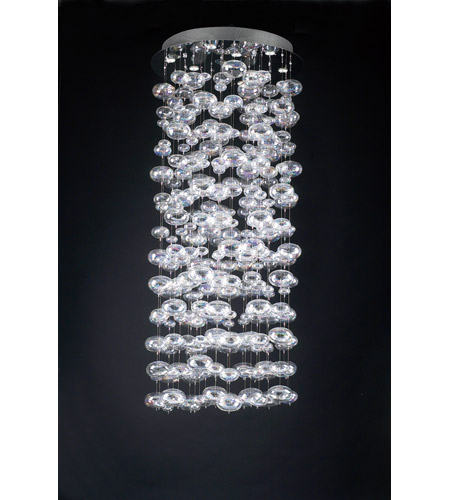 PLC Lighting Polished Chrome Bubbles Chandeliers