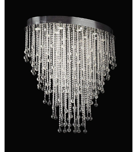 PLC Lighting Pearl Oval Chandelier in Polished Chrome with Clear Glass 97111-PC photo