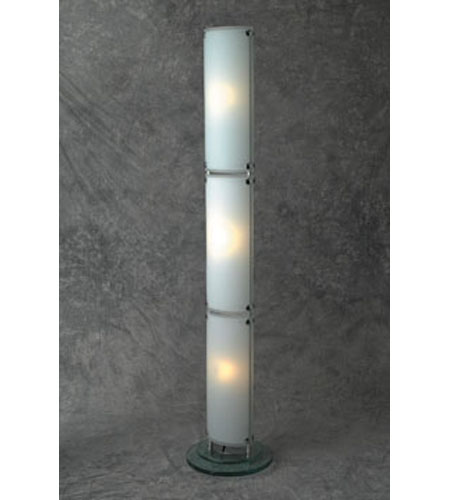 PLC Lighting Apex 3 Light Floor Lamp in Polished Chrome and Acid Frost Glass 98857 photo